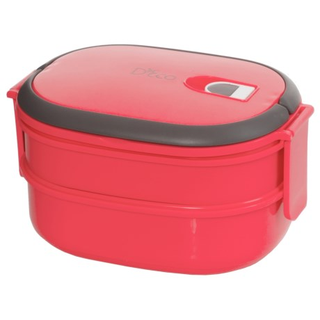 Deco D'Eco Two-Tier Tiffin Stacking Lunch Box - Vacuum Seal Lid
