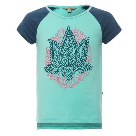 Lucky Brand Mila Raglan T-Shirt - Short Sleeve (For Big Girls)