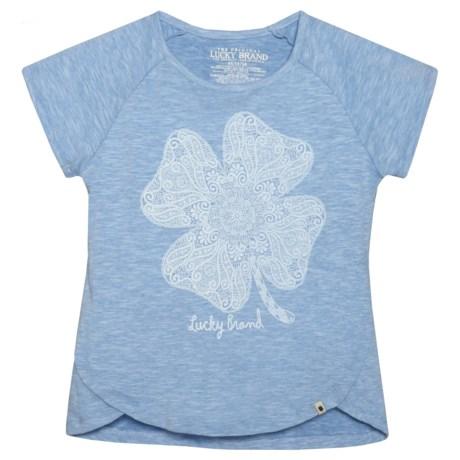 Lucky Brand Lucky Lace Slub Jersey Shirt - Short Sleeve (For Big Girls)