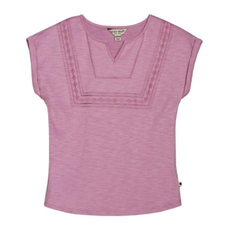 Lucky Brand Annette Slub Jersey Shirt - Short Sleeve (For Little Girls)