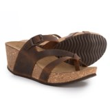 Marina Luna Comfort Made in Italy Multi-Strap Wedge Sandals - Leather (For Women)
