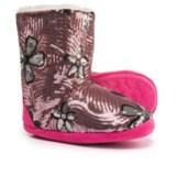 Blazin Roxx Floral Sequin Bootie Slippers (For Girls)