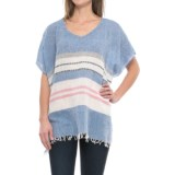 dylan Capri Stripe Poncho (For Women)