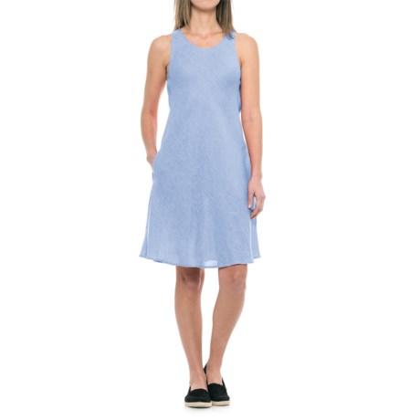 dylan Pad Printed Linen Bias Dress - Sleeveless