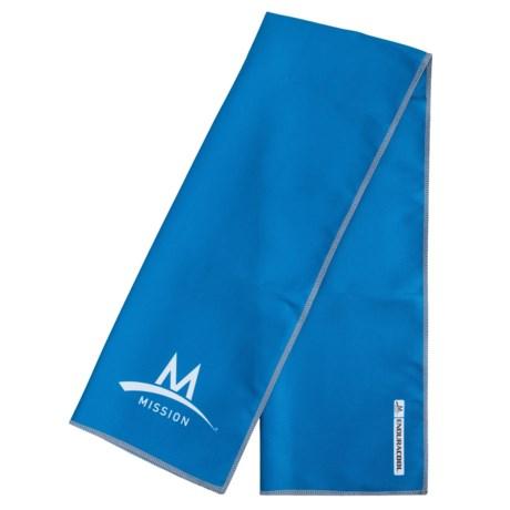 "Mission EnduraCool® Instant Cooling Towel - UPF 50+, 13x37"""