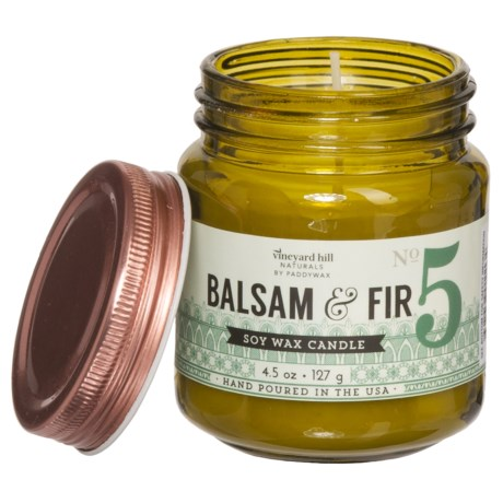 Paddywax Letterpress Balsam and Fir Mini Candle - Soy Wax, 4.5 oz.