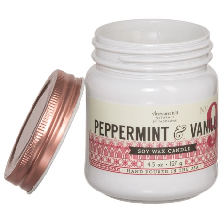 Paddywax Letterpress Peppermint and Vanilla Mini Soy Candle - 4.5 oz.