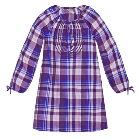 Lucky Brand Sarah Plaid Dress - Long Sleeve (For Big Girls)