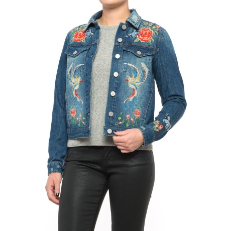Philosophy Republic Clothing Embroidered Denim Jacket (For Women)