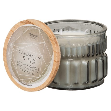Paddywax Aquarelle Geode Cardamom and Fig Soy Candle - 3-Wick, 11 oz.