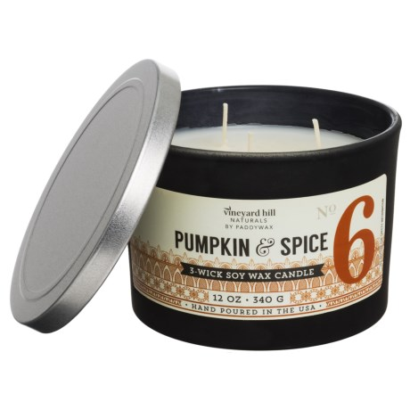 Paddywax Letterpress Pumpkin and Spice Soy Candle - 3-Wick, 12 oz.