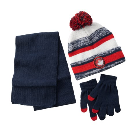 Canada Weather Gear Knit Beanie, Scarf and Touchscreen Compatible Gloves Set (For Kids)