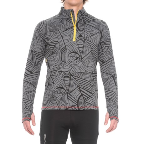 Janji Patterned Zip Neck Running Shirt - Long Sleeve (For Men)
