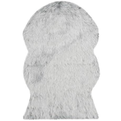 Safavieh Faux-Fur Sheepskin Shaped Rug - 2x3'