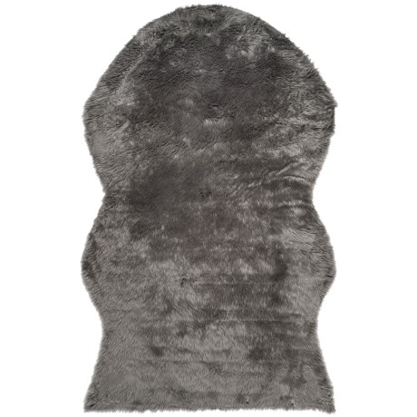 Safavieh Faux-Fur Sheepskin Shaped Rug - 5x8'