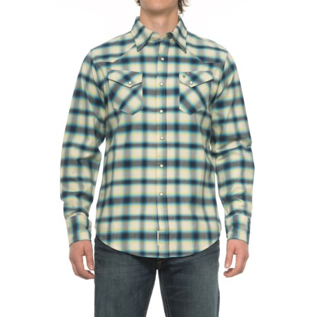 Stetson Western Flannel Shirt - Snap Front, Long Sleeve (For Men)
