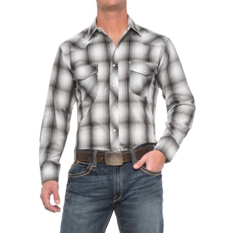 Roper Cotton-Blend Western Shirt - Snap Front, Long Sleeve (For Men)