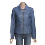 Regent Park Faux-Leather Jacket - Zip (For Women)