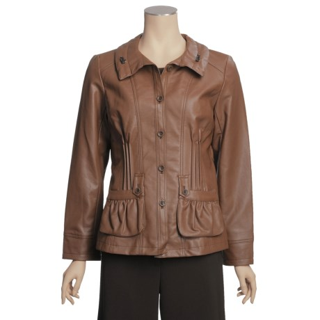 Regent Park Shirred Effect Jacket - Button Front (For Women)