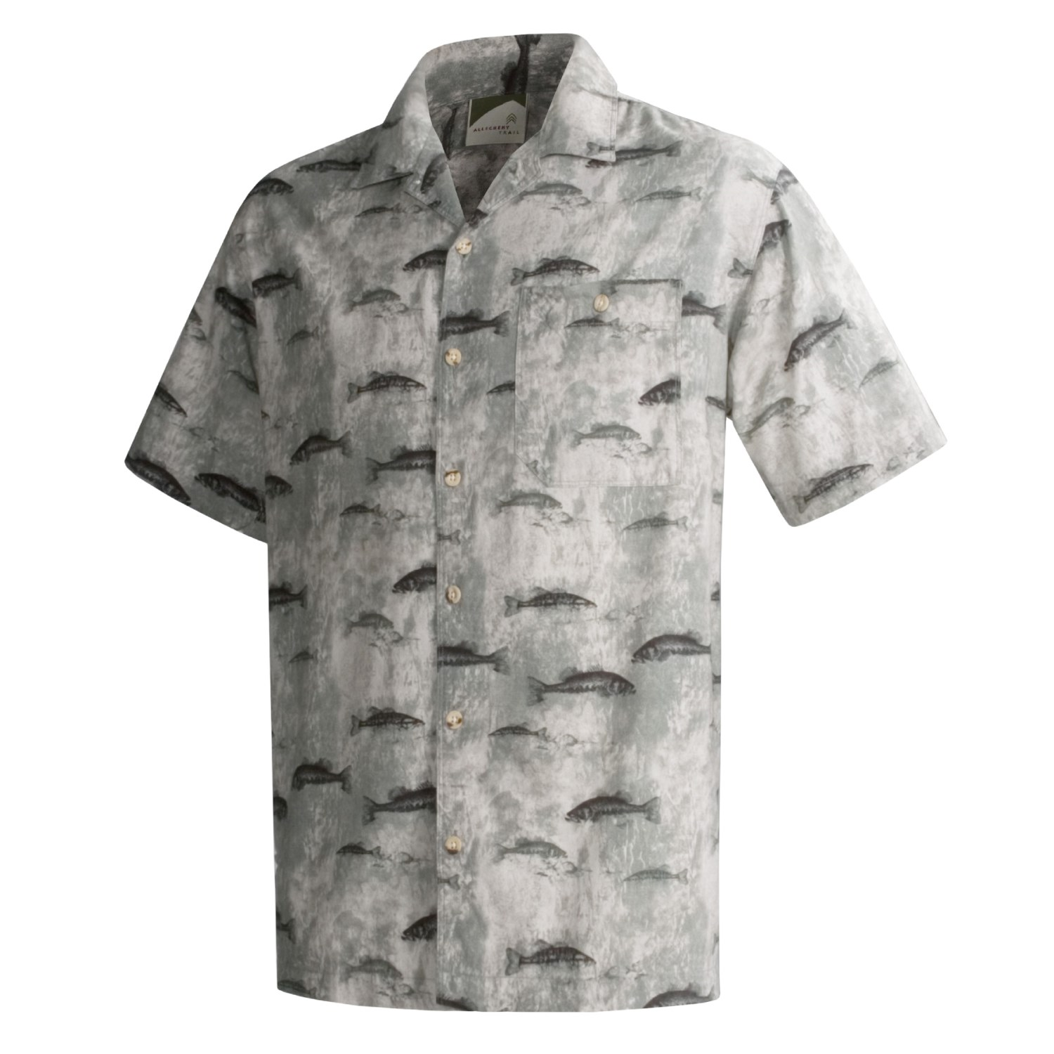 Allegheny Trail Cotton Fish Print Shirt For Men 33650
