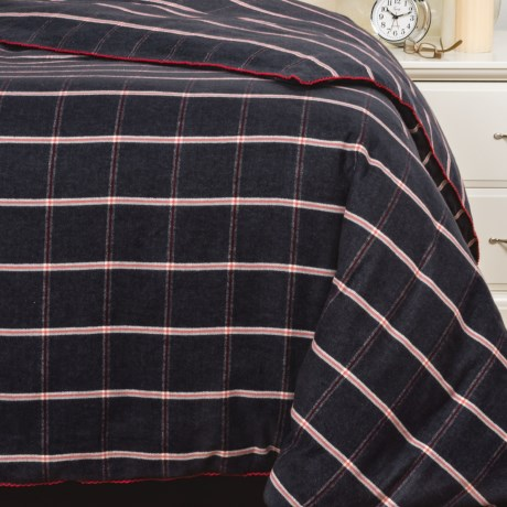 Bambeco Oxford Windowpane Flannel Duvet Cover - Twin, Organic Cotton