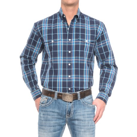 Stetson Western Plaid Shirt - Long Sleeve (For Men)