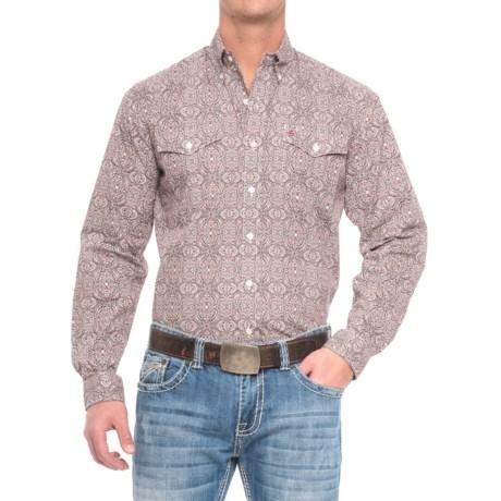 Stetson Western Print Shirt - Long Sleeve (For Men)