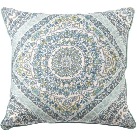 "EnVogue Levain Printed Down Throw Pillow - 22"", Feathers"