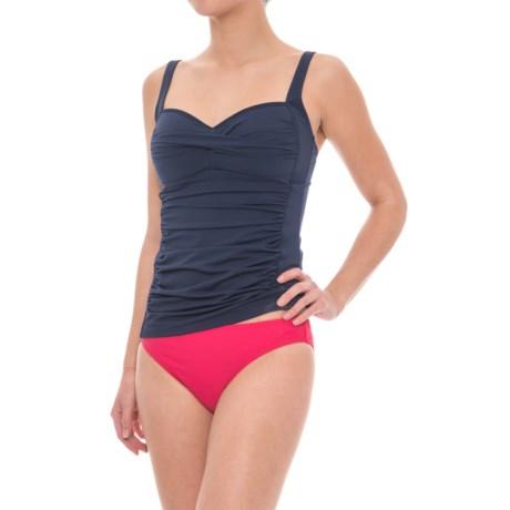 Nip Tuck Swim Twist-Front Multifit Tankini Top (For Women)