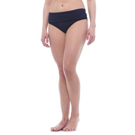 Nip Tuck Swim Roll Band Bikini Bottoms (For Women)