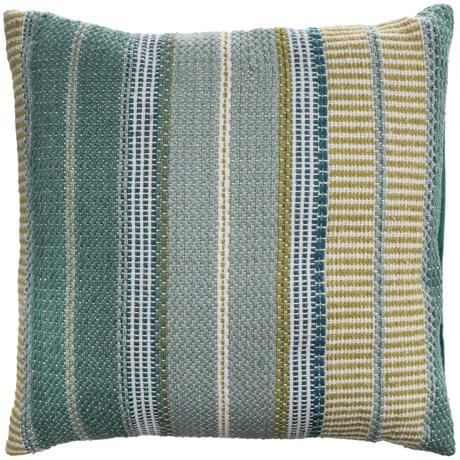 """EnVogue Stripe Woven Outdoor Throw Pillow - 22x22"""""""