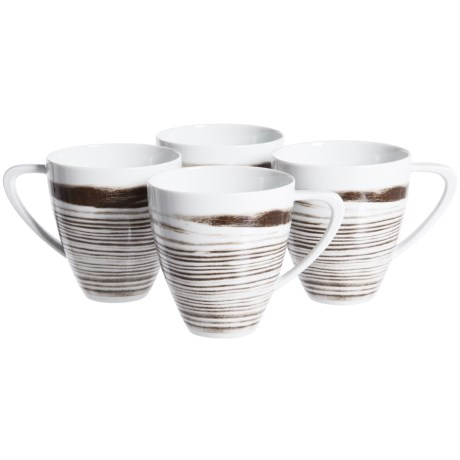 Bambeco Goode Grain Porcelain Mugs - Set of 4, 16 oz.