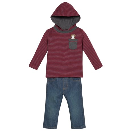 Kids Headquarters Hoodie Shirt and Jeans Set (For Infant Boys)