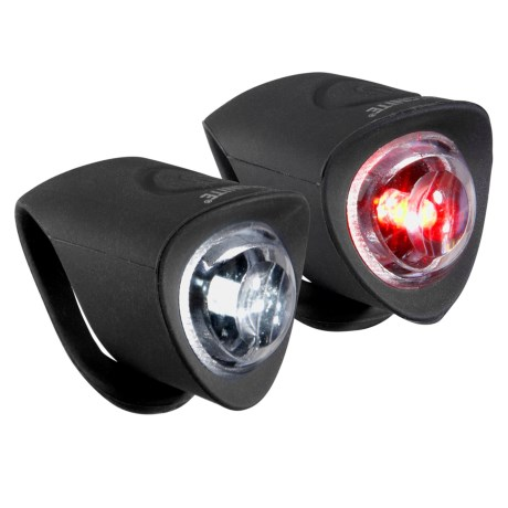 Kryptonite Meteor F100 and R100 LED Bike Lights - 60 Lumens, 2-Pack