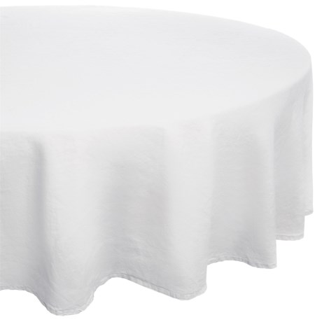 "Bambeco Pure Linen Everyday Tablecloth - 90"" Round"