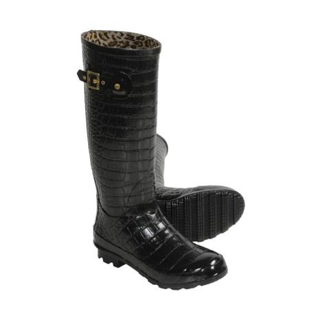 Khombu Kaymen Embossed Rubber Rain Boots (For Women)
