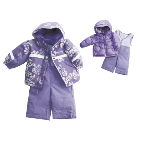 Columbia Sportswear Snow Brooklyn Overall Bib Set - Reversible (For Infant Girls)