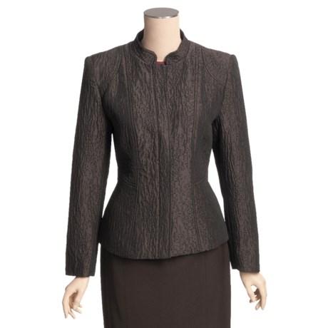 Louben Mandarin Collar Jacket - Hidden Zipper (For Women)
