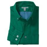 Martin Gordon Solid Silk Shirt - Long Sleeve (For Men)