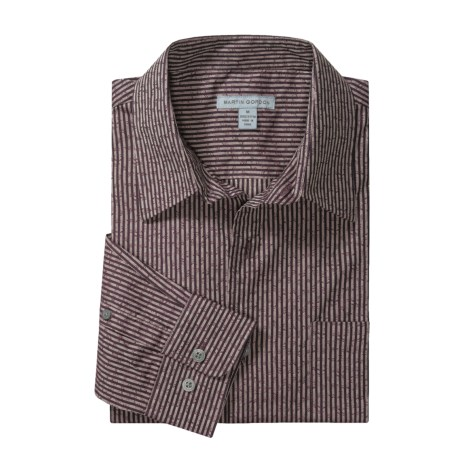 Martin Gordon Fancy Stripe Shirt - Cotton, Long Sleeve (For Men)