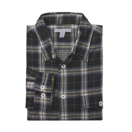 Martin Gordon Flannel Plaid Shirt - Double-Faced Cotton, Long Sleeve (For Men)