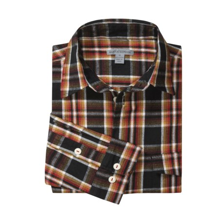 Martin Gordon Plaid Flannel Sport Shirt - Cotton, Long Sleeve (For Men)