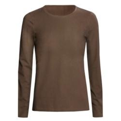 Stretch Cotton Shirt - Long Sleeve (For Women)