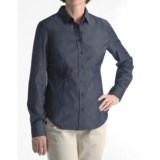 Stretch Cotton Collar Shirt - Long Sleeve (For Women)