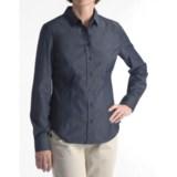 Stretch Cotton Collar Shirt - Long Sleeve (For Women)