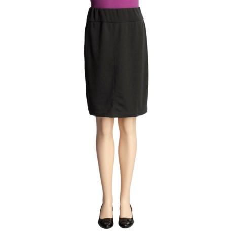 Stretch Knit Skirt - Back Slit (For Women)