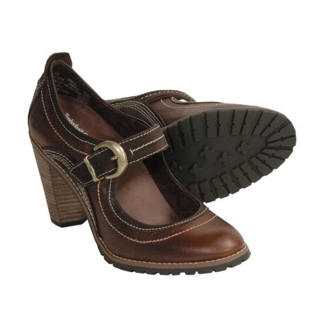Timberland Chauncy Buckle Shoes - Mary Janes, Leather (For Women)