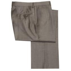 Riviera Wool Fancy Neat Dress Pants - Flat Front (For Men)