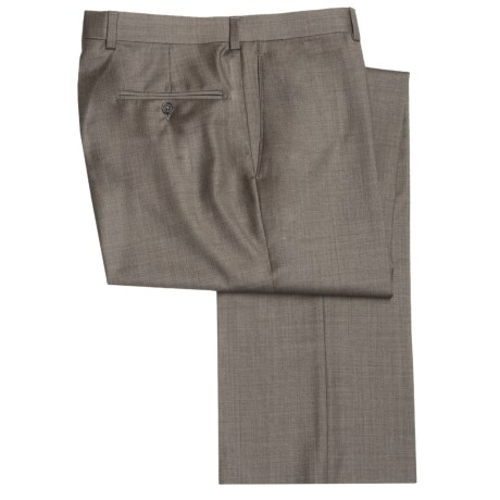 Riviera Wool Fancy Neat Dress Pants - Flat Front (For Men)