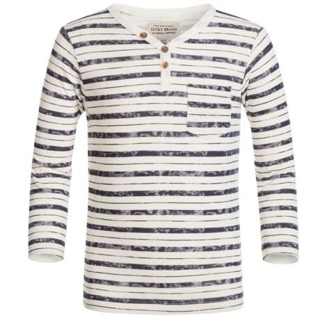 Lucky Brand Striped Pocket Shirt - Long Sleeve (For Little Boys)